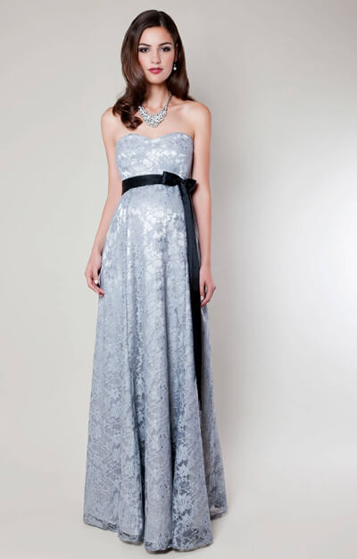 Olivia Maternity Gown (Silver Mist)