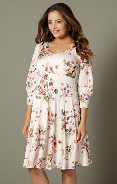 Pixie Maternity Dress Petal Pink Floral by Tiffany Rose
