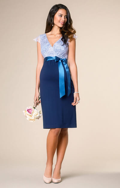 Rosa Maternity Dress Infinity Blue by Tiffany Rose