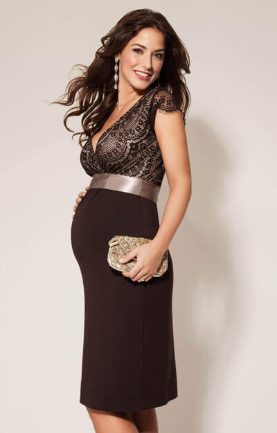 Rosa Maternity Dress Mocha by Tiffany Rose