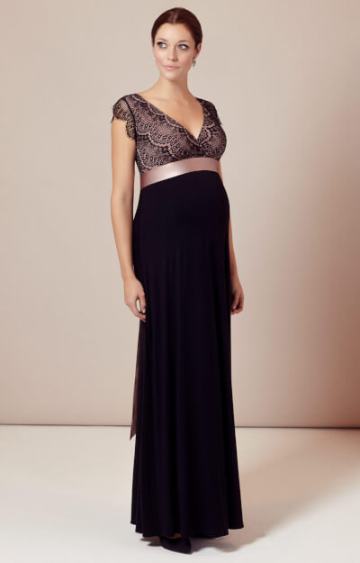 Rosa Maternity Gown Long (Vintage Blush)