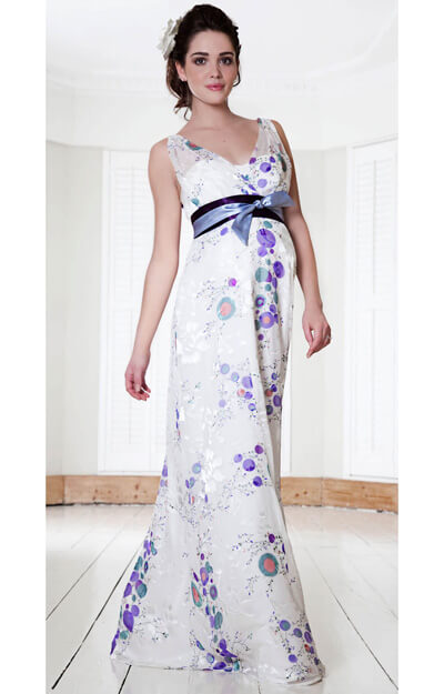Silk Blossom Maternity Gown