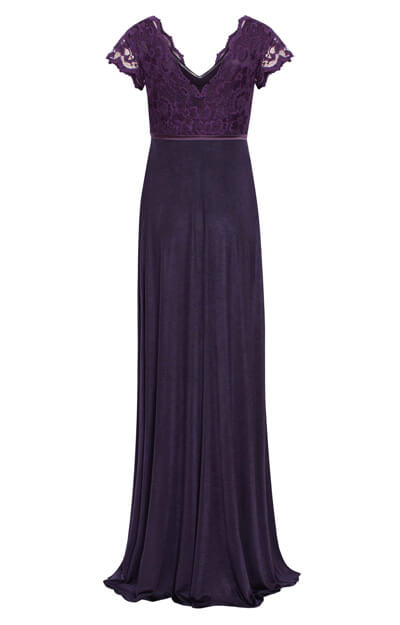 Sevilla Maternity Gown Long Blackberry