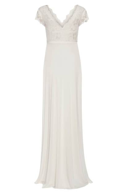 Sevilla Maternity Wedding Gown Long Ivory