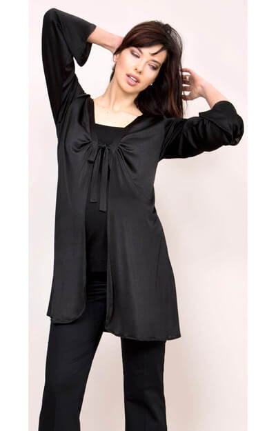 Sheer Cardigan (Black)