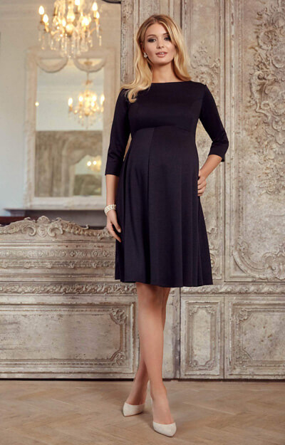 Sienna Maternity Dress Short Black by Tiffany Rose