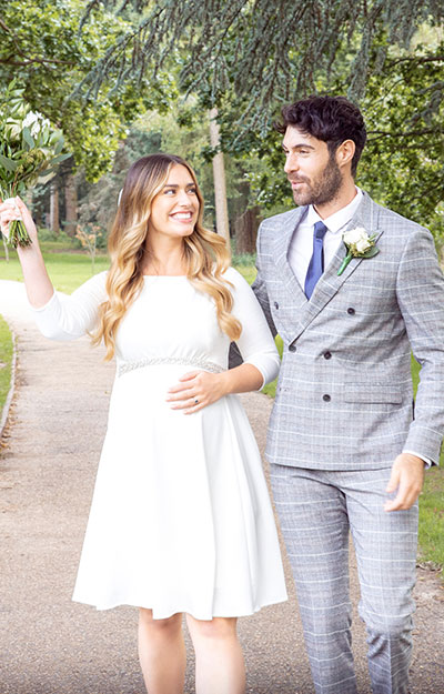Sienna Maternity Dress Short Cream