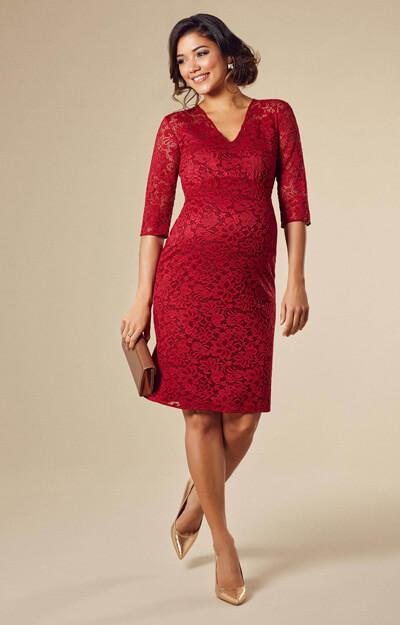 93fe21b5940 Suzie Maternity Dress Short Deep Red - Maternity Wedding Dresses ...