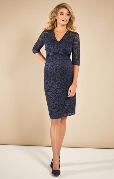 Suzie Lace Maternity Dress Navy by Tiffany Rose
