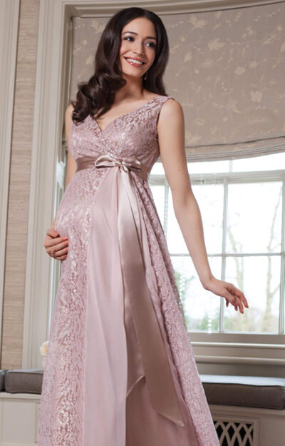 Thea Maternity Gown Long Blush