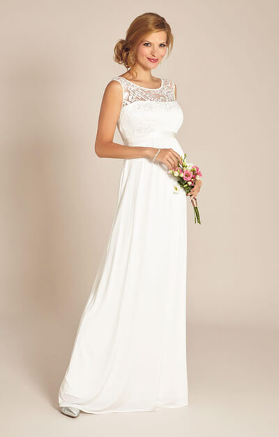 Valencia Maternity Wedding Gown Ivory