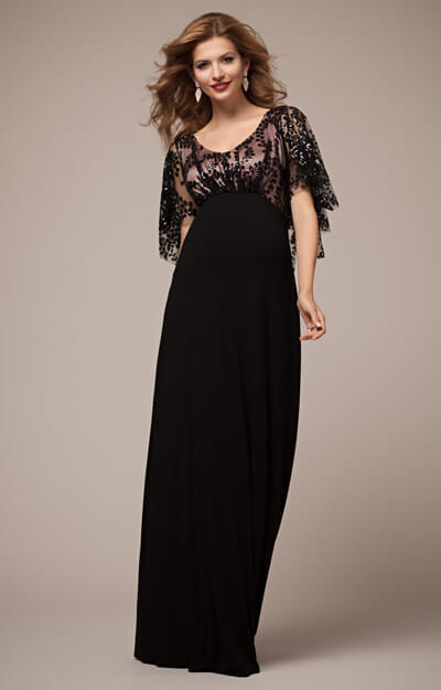 118a3d57c2b73 Vintage Cape Maternity Gown Blush Noir - Maternity Wedding Dresses ...