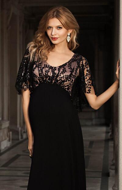 Kleid Vintage Cape -Blush Noir - Umstandshochzeitskleider ...