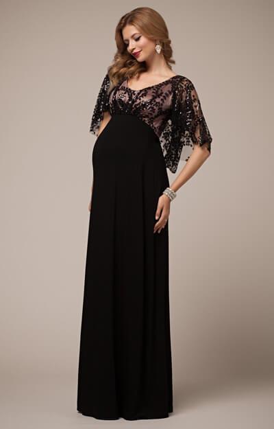 Vintage Cape Maternity Gown Blush Noir