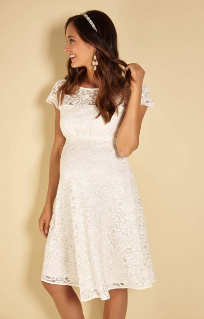 Viola Maternity Lace Dress Ivory by Tiffany Rose