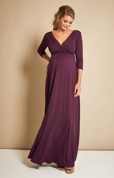 Willow Maternity Gown Claret by Tiffany Rose