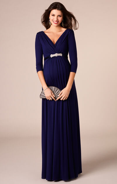 Willow Maternity Gown Long Eclipse Blue by Tiffany Rose