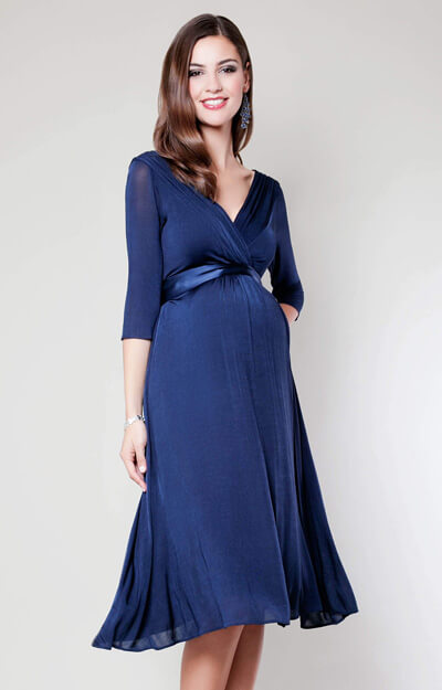 Willow Maternity Dress (Midnight Blue) by Tiffany Rose
