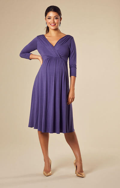 Willow Maternity Dress Short Grape