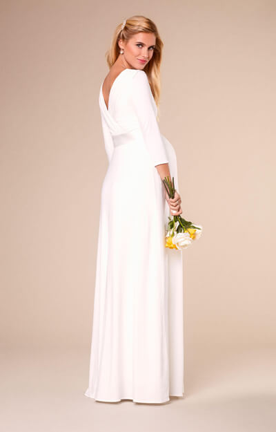 Willow Maternity Wedding Gown Long Ivory