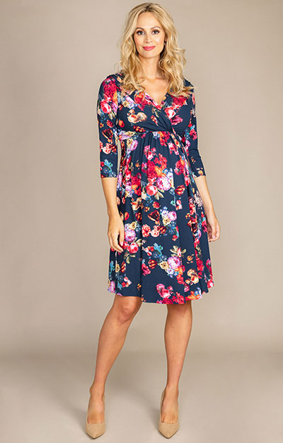 Willow Maternity Dress Midnight Garden
