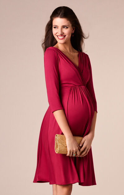 fc3b6bf8e8bd Willow Maternity Dress Raspberry Pink - Maternity Wedding Dresses ...