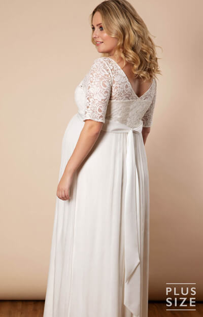 Alaska Plus Size Maternity Silk Chiffon Wedding Gown