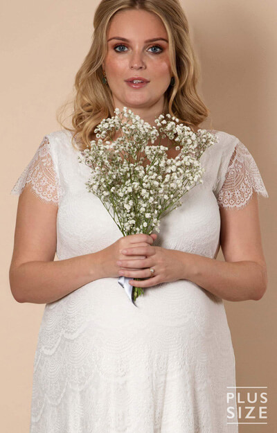 Kristin Plus Size Maternity Wedding Dress Ivory White