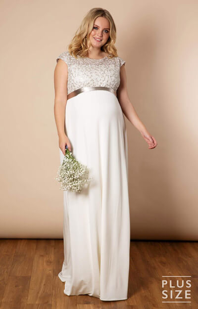 Mia Plus Size Maternity Wedding Gown in Ivory by Tiffany Rose