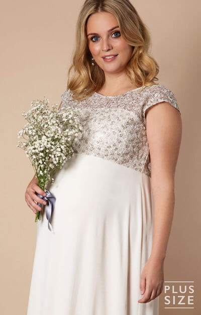 53d622eaa1f5 ... Mia Plus Size Maternity Wedding Gown in Ivory by Tiffany Rose ...