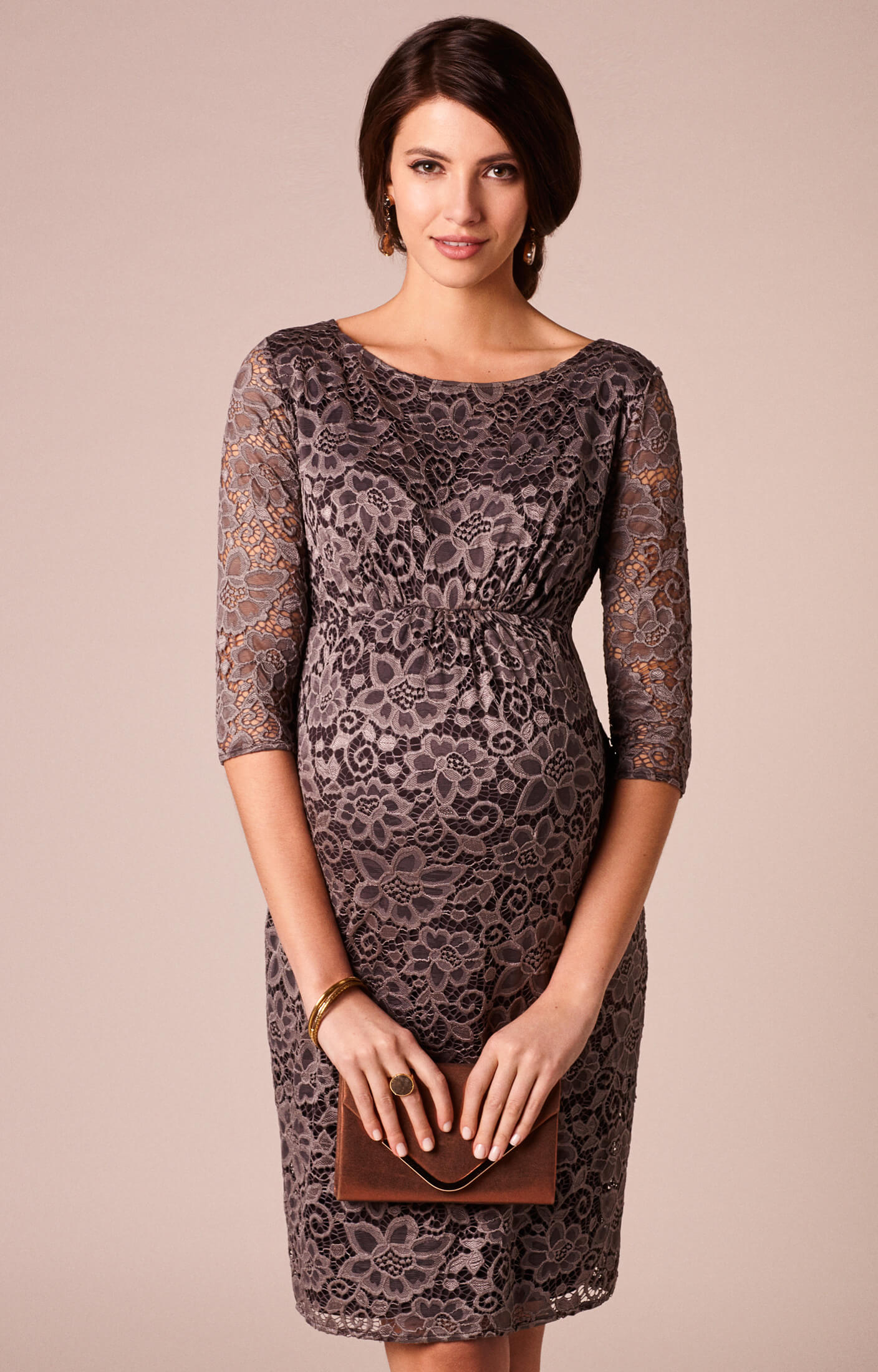 The outlet maternity dresses maternity evening wear by tiffany abigail maternity lace dress cocoa ombrellifo Choice Image