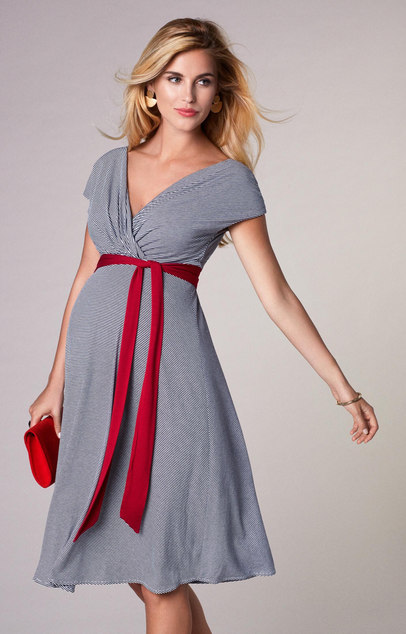 2e4171adf67 Alessandra Maternity Dress Short Cruise Stripe - Maternity Wedding Dresses