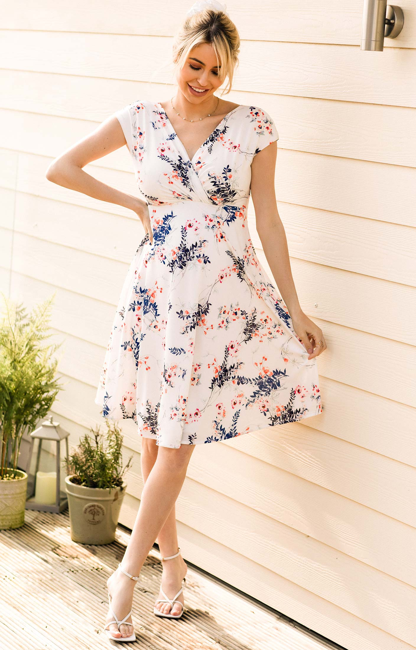 Alessandra Maternity Dress Short Japanese Garden
