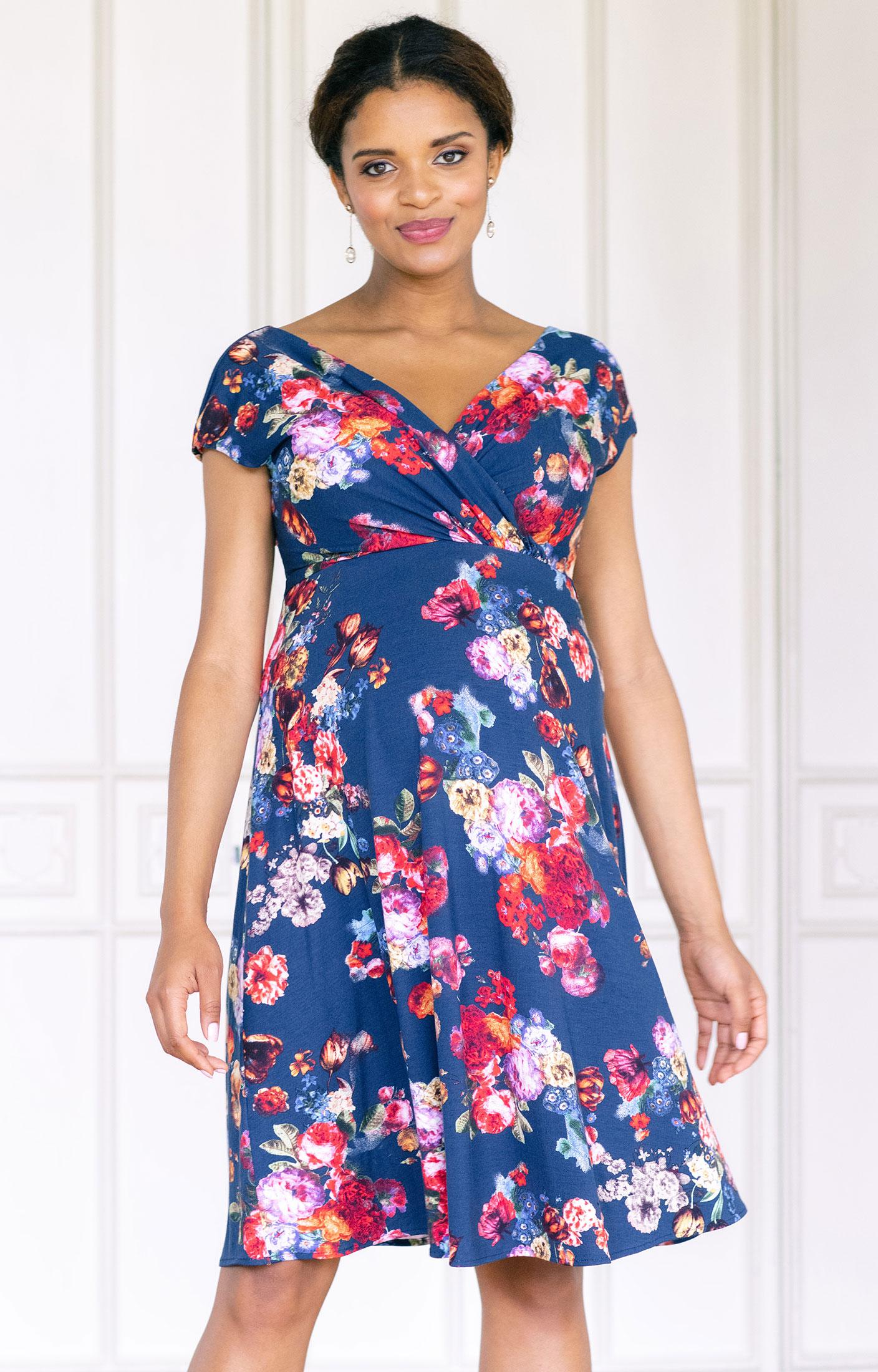 Alessandra Maternity Dress Short Midnight Garden