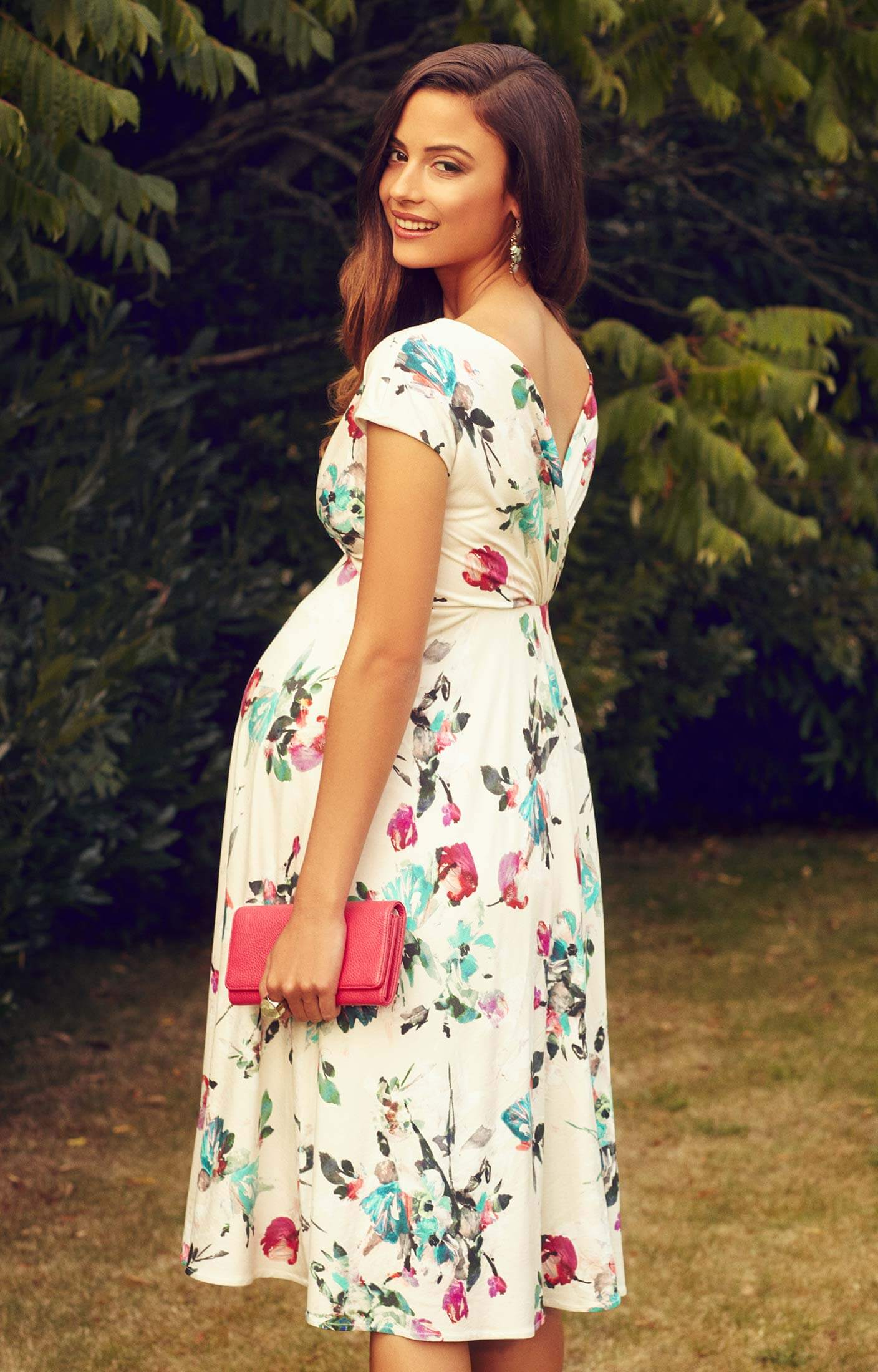 Wedding guest maternity dresses from uk designer tiffany rose alessandra maternity dress short painterly floral ombrellifo Image collections