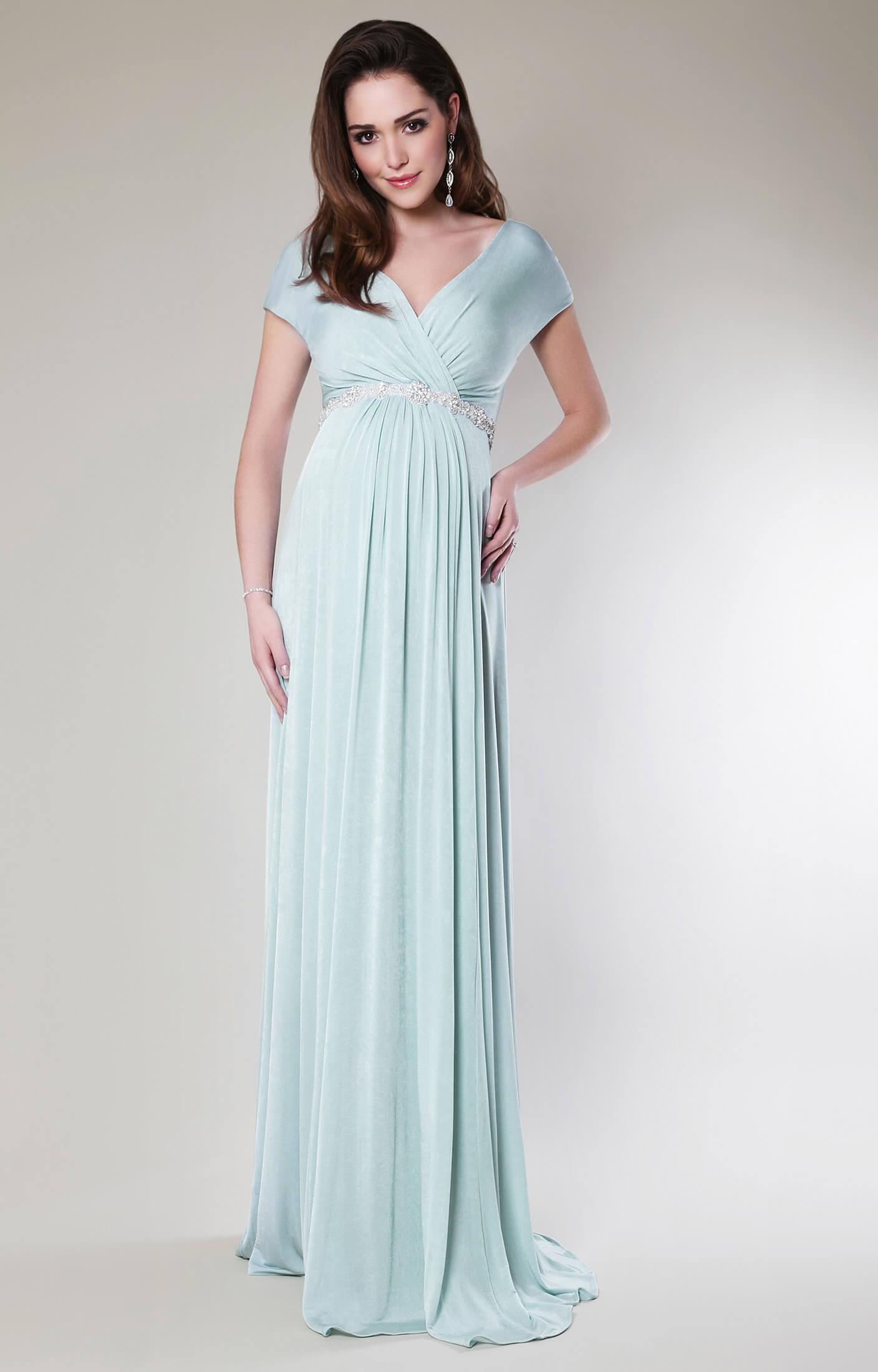 Alessandra Maternity Gown Long Sea Breeze Maternity