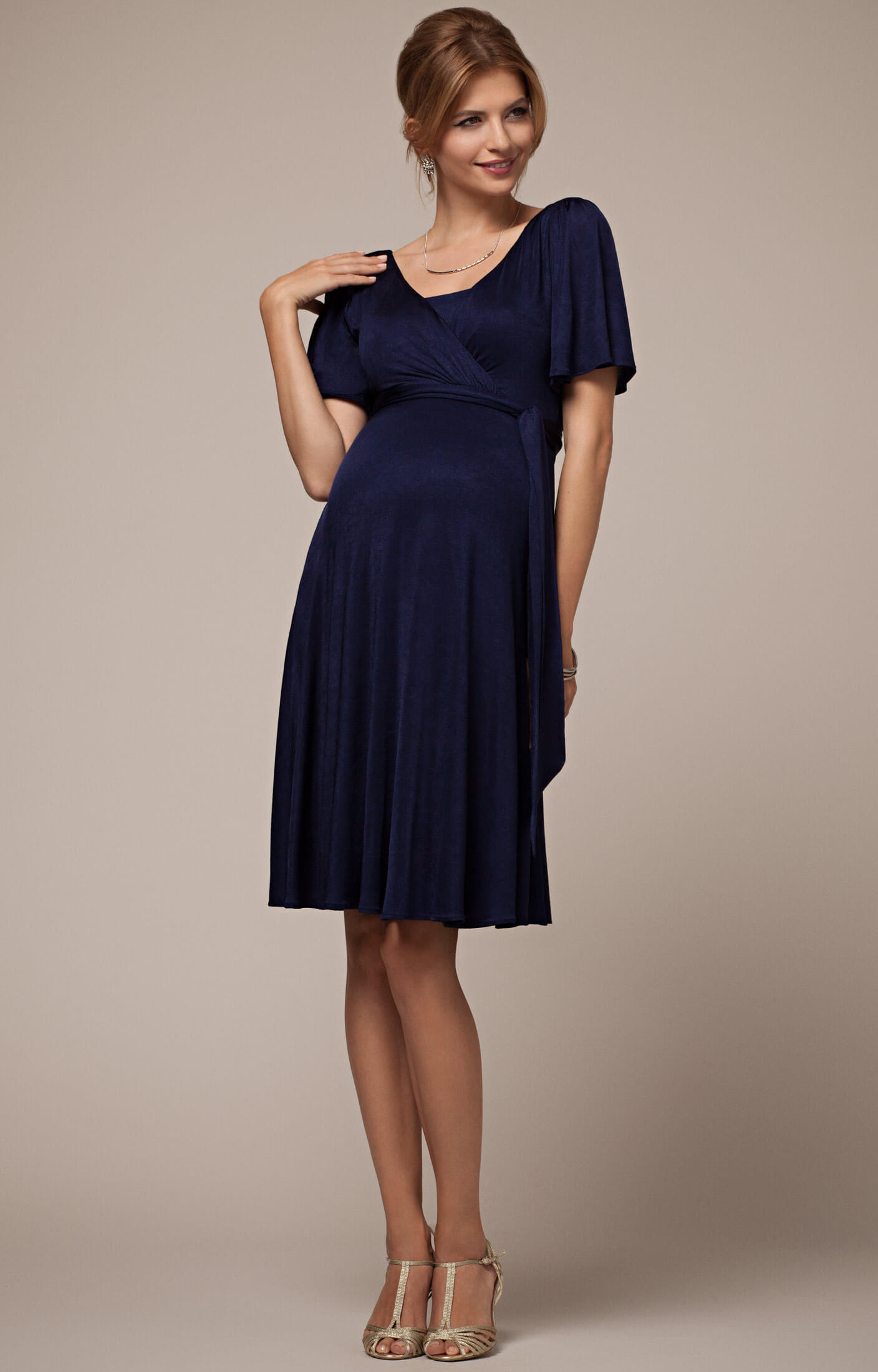 Stillkleid Alicia - Eclipse Blau - Umstandshochzeitskleider ...