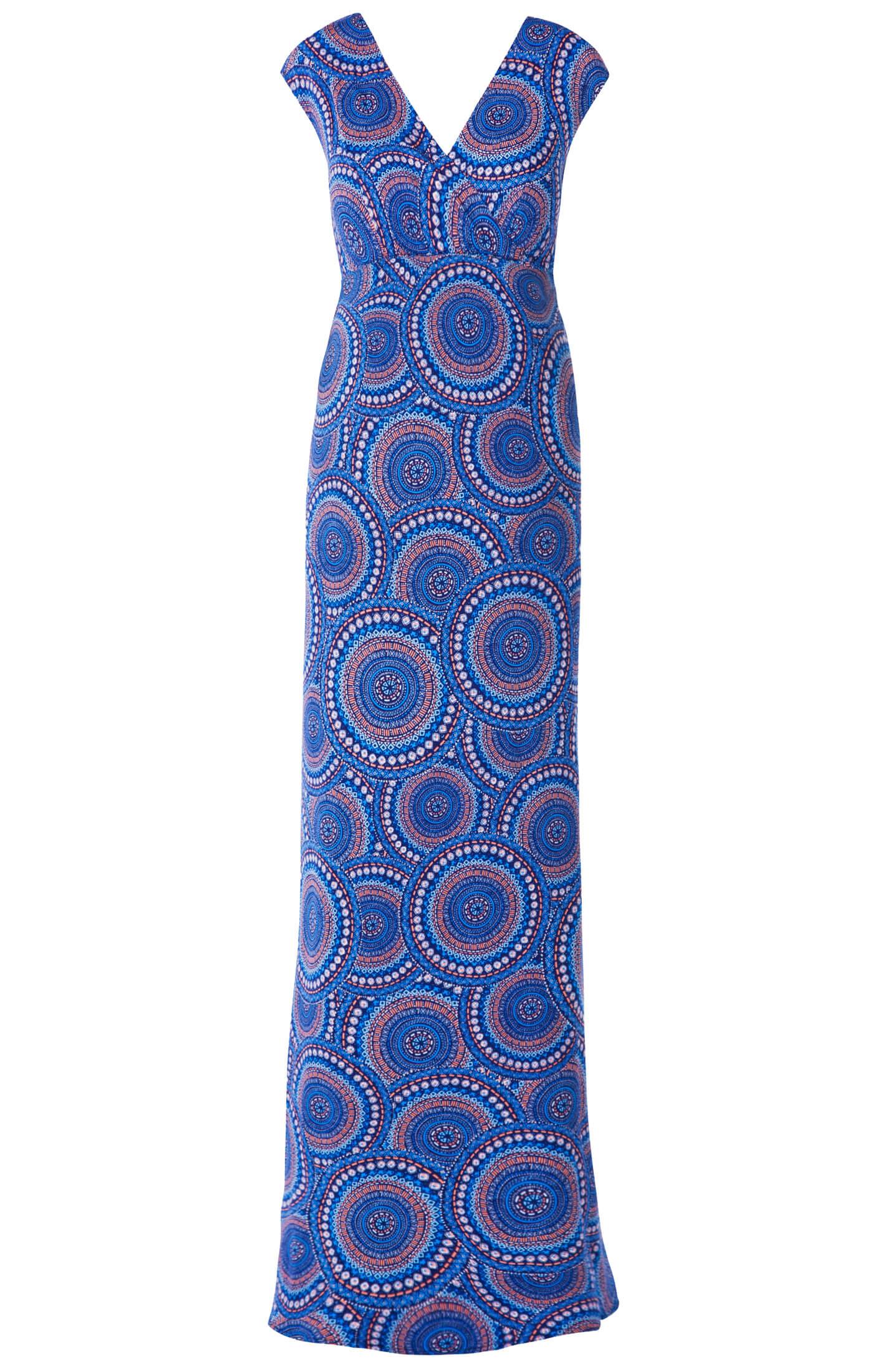 Aztec rose maxi dress