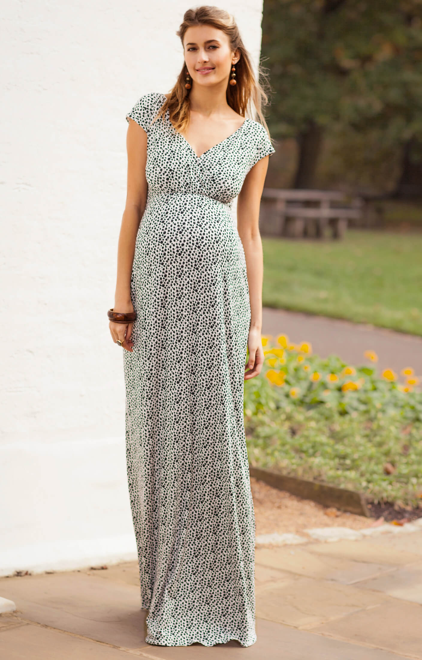 Alana Maternity Maxi Dress Snow Leopard Maternity