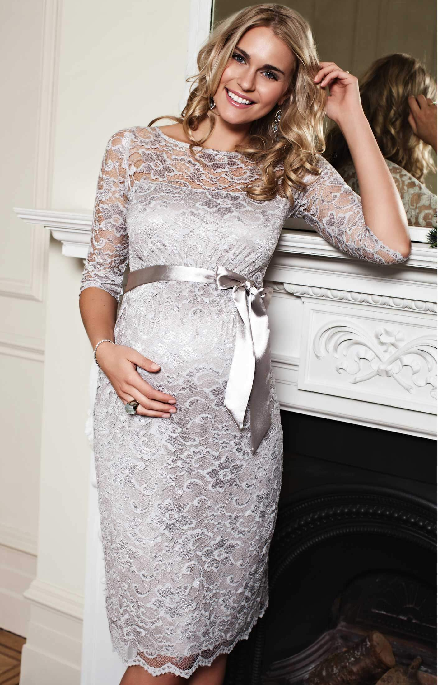 Amelia maternity dress short silver moonbeam maternity wedding amelia maternity dress short silver moonbeam maternity wedding dresses evening wear and party clothes by tiffany rose ombrellifo Choice Image