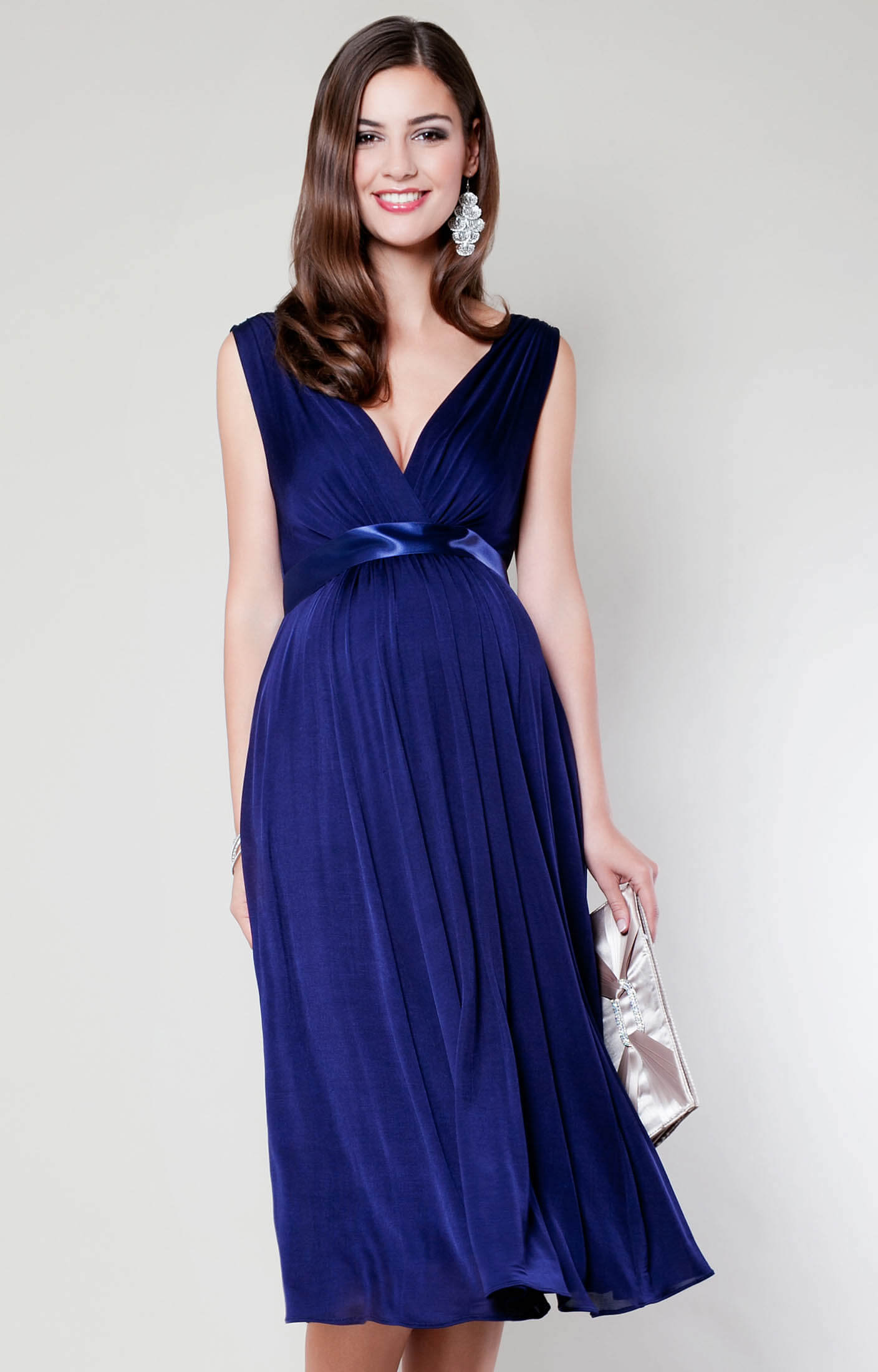 Anastasia Maternity Dress Short Eclipse Blue Maternity Wedding Dresses Evening Wear And