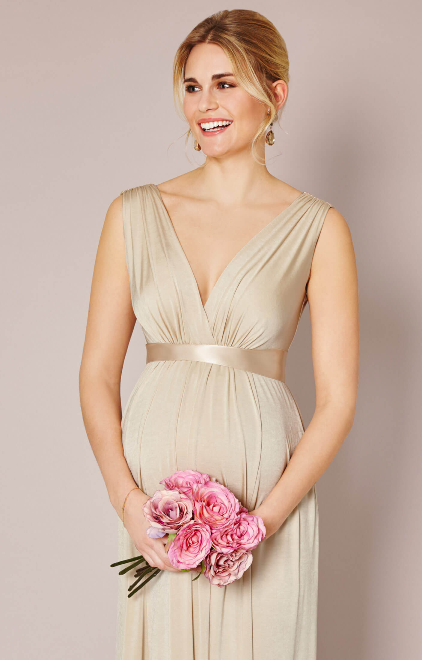 Anastasia Maternity Gown (Gold Dust) - Maternity Wedding Dresses ...