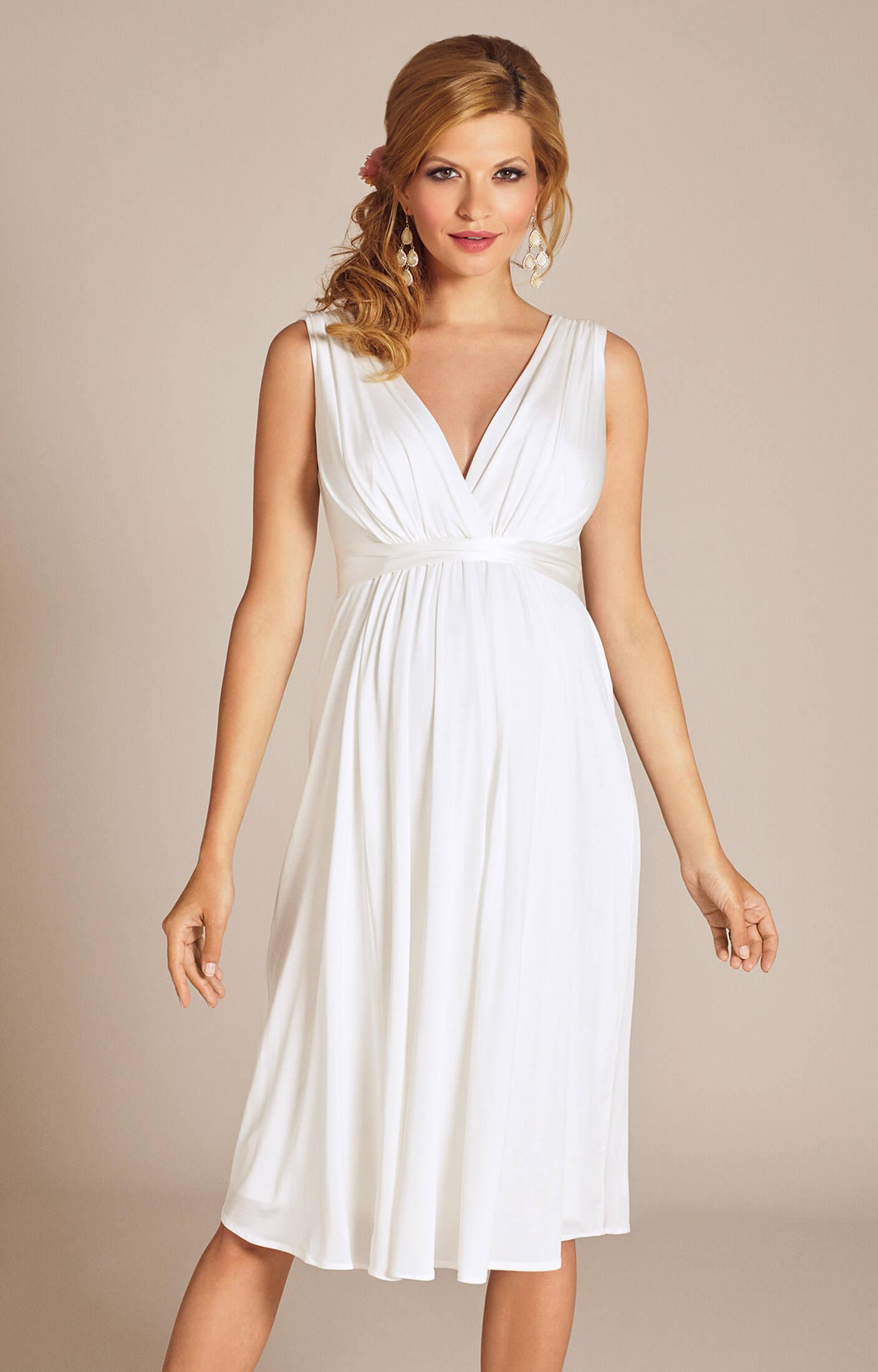 Anastasia Maternity Wedding Dress Short Ivory