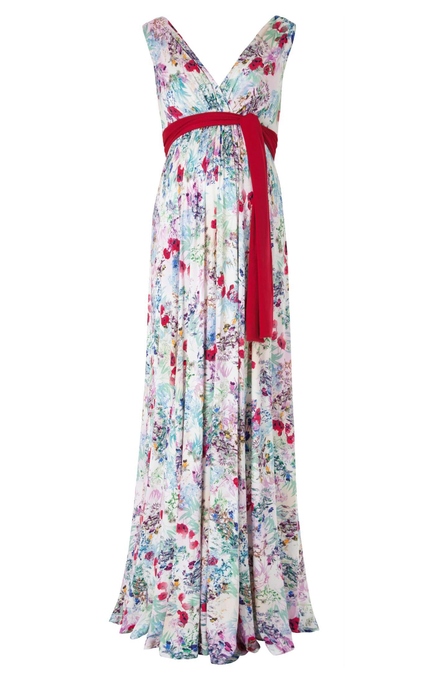 20e93115709f8 Anastasia Maternity Long Maxi Dress in Poppy floral print - Maternity  Wedding Dresses, Evening Wear and Party Clothes by Tiffany Rose UK