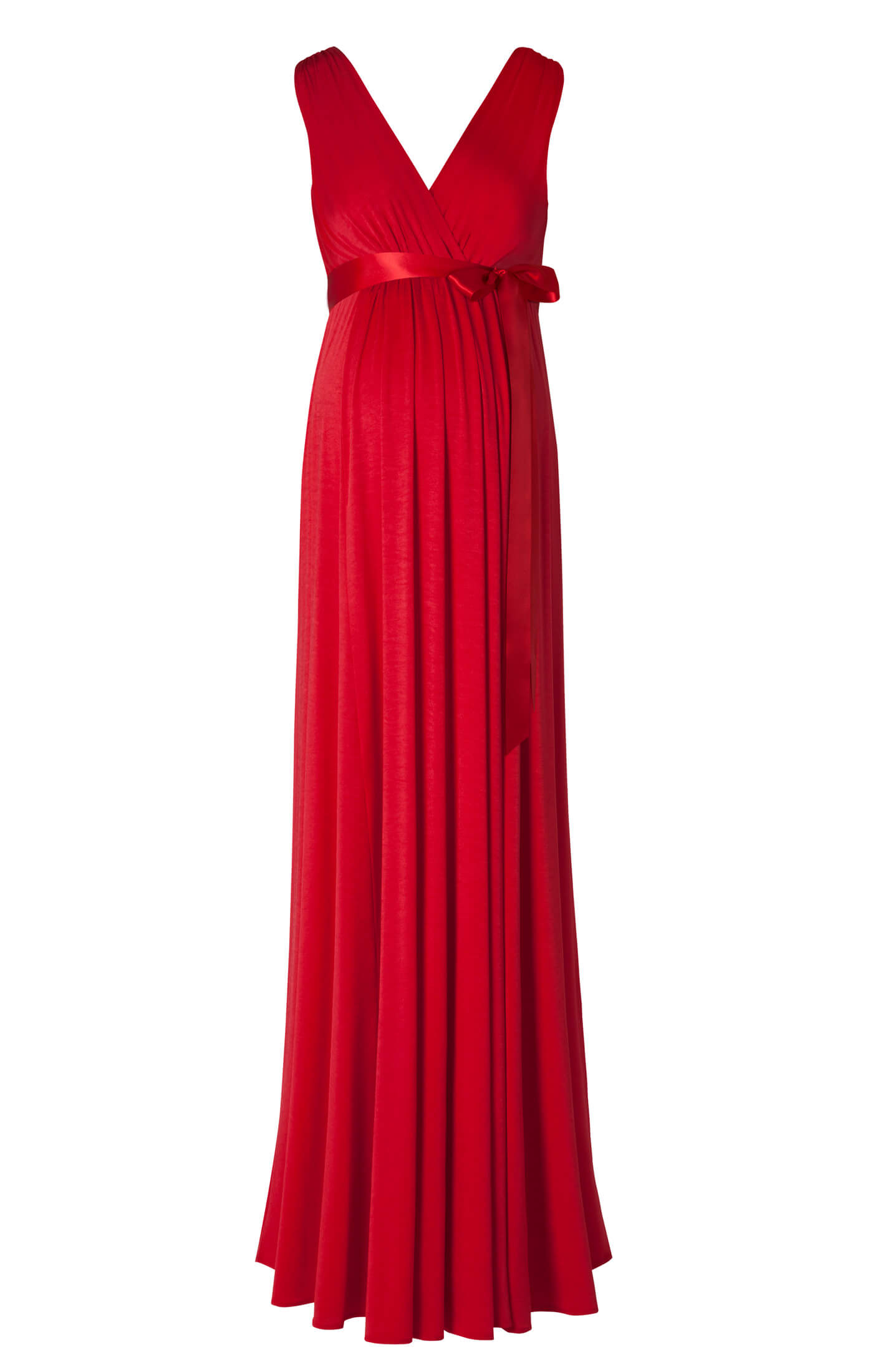 Anastasia Maternity Gown Long Sunset Red Maternity