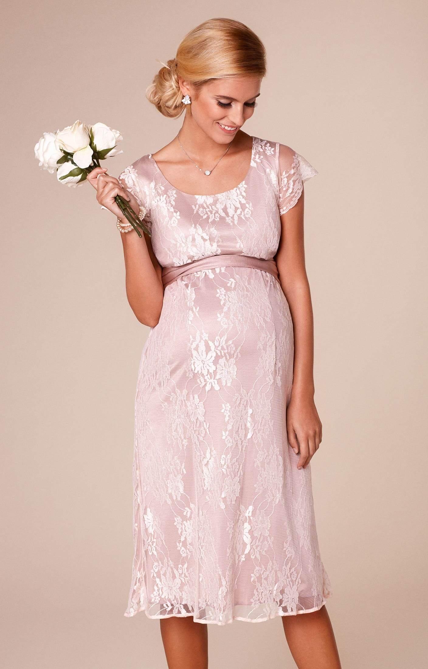 April nursing lace dress blush maternity wedding dresses for Nursing dresses for wedding