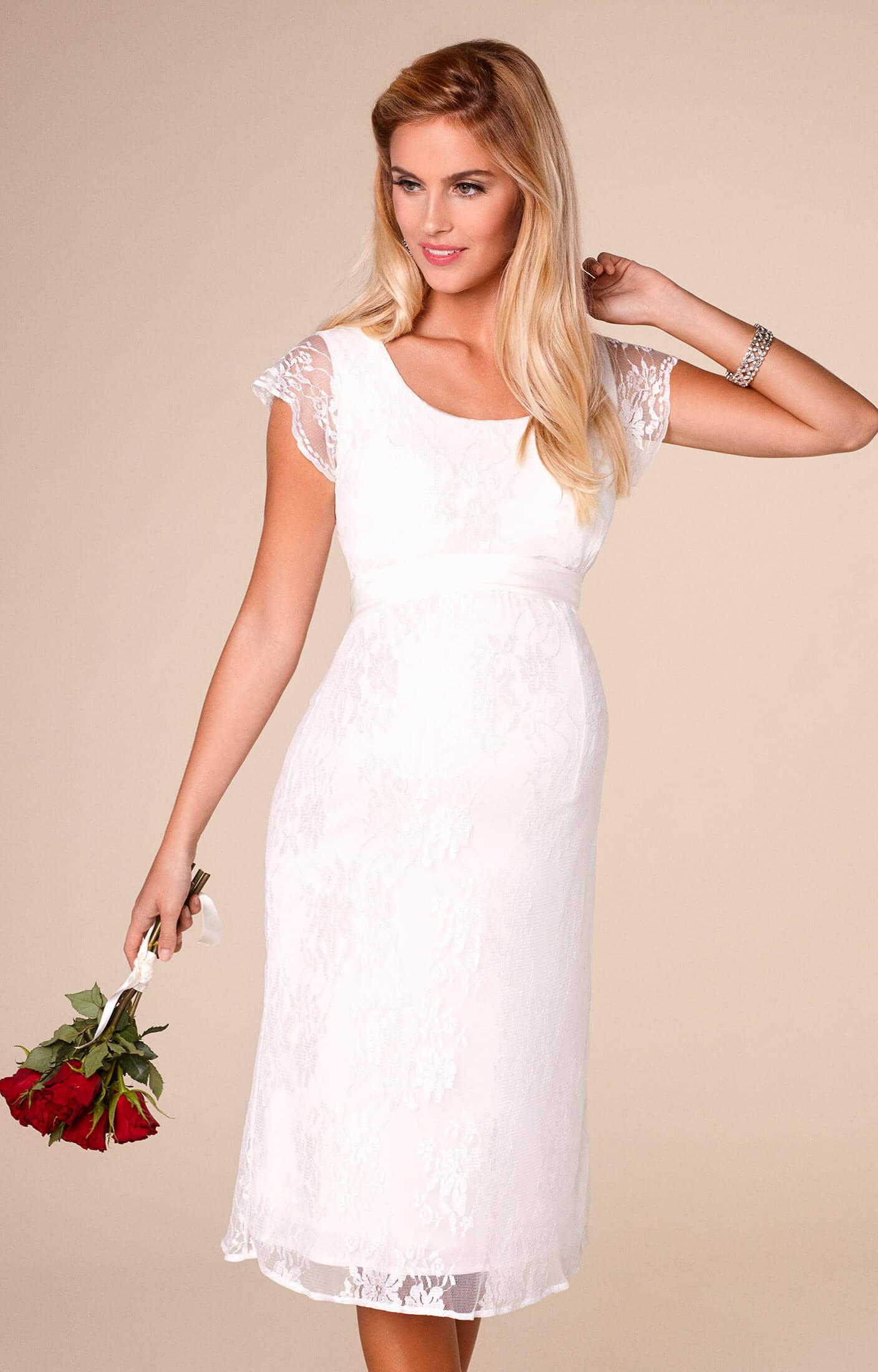April Wedding Nursing Lace Dress Ivory Maternity Wedding