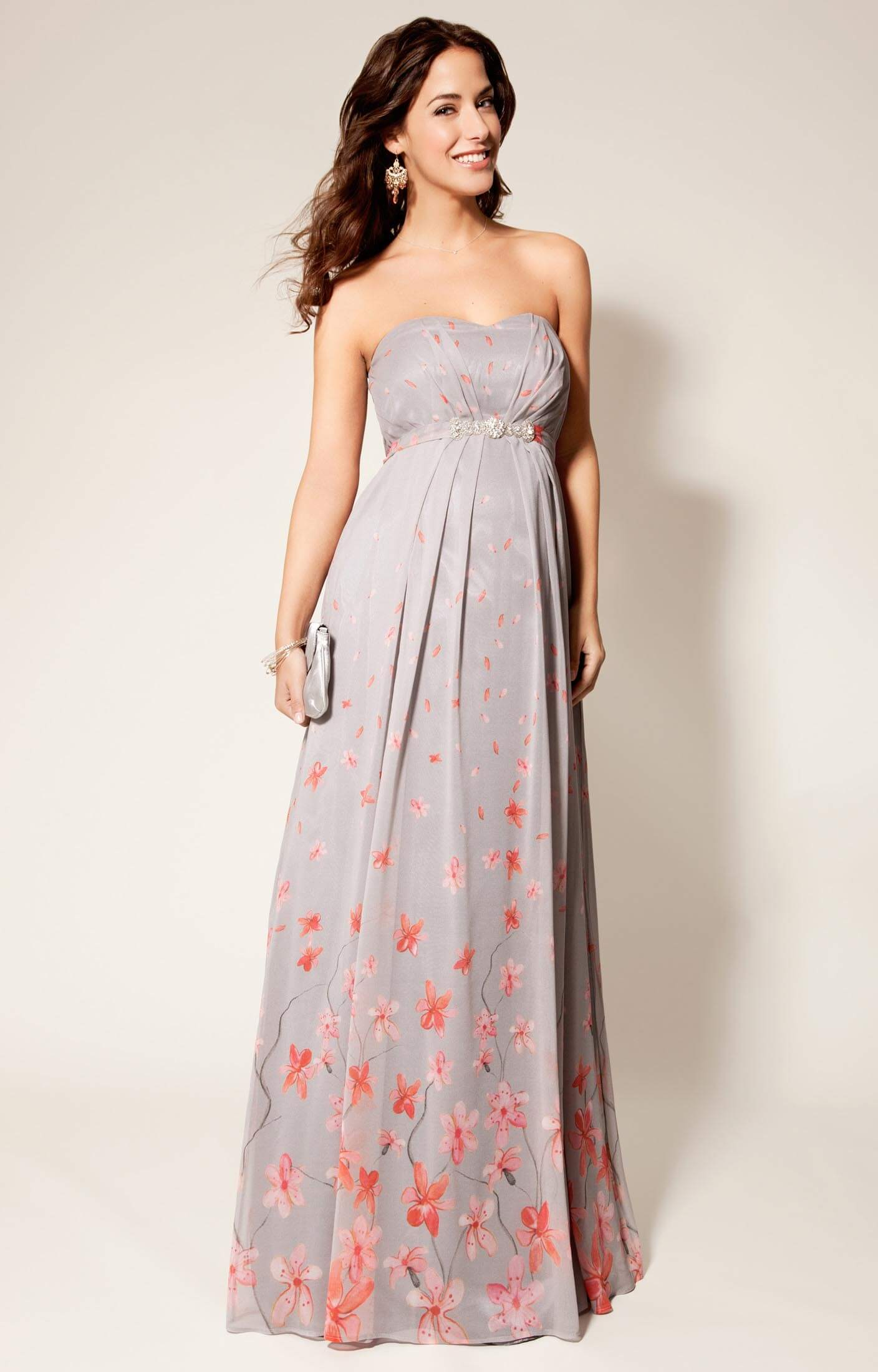 Annabella Silk Maternity Gown Peach Blossom - Maternity Wedding ...