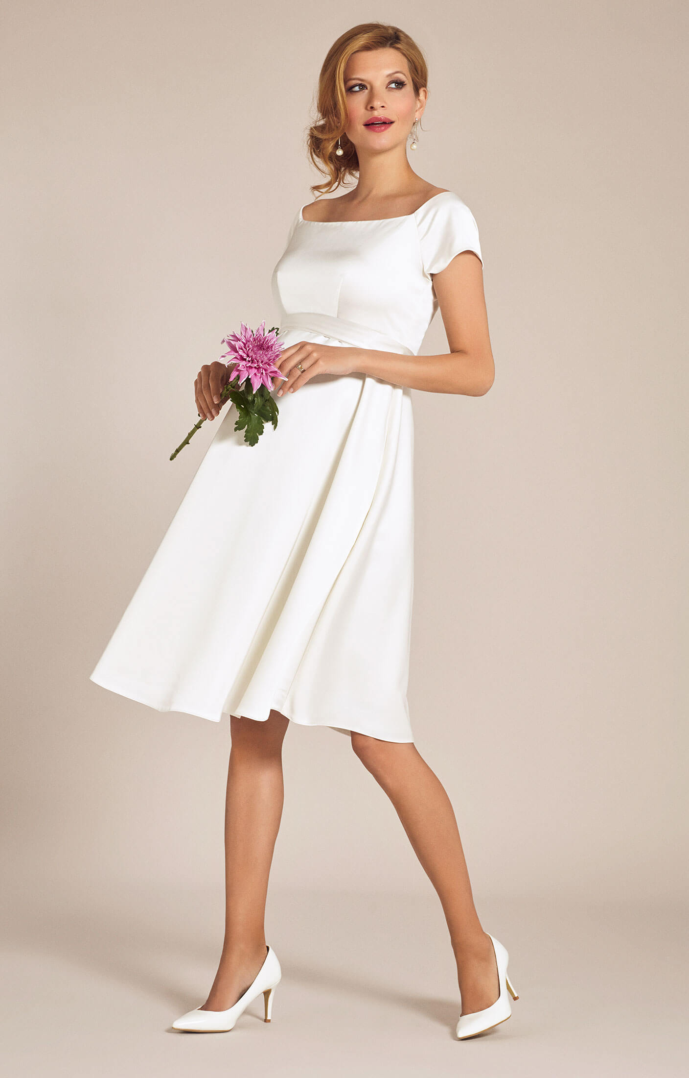 Aria maternity wedding dress ivory maternity wedding for Maternity dresses for wedding party