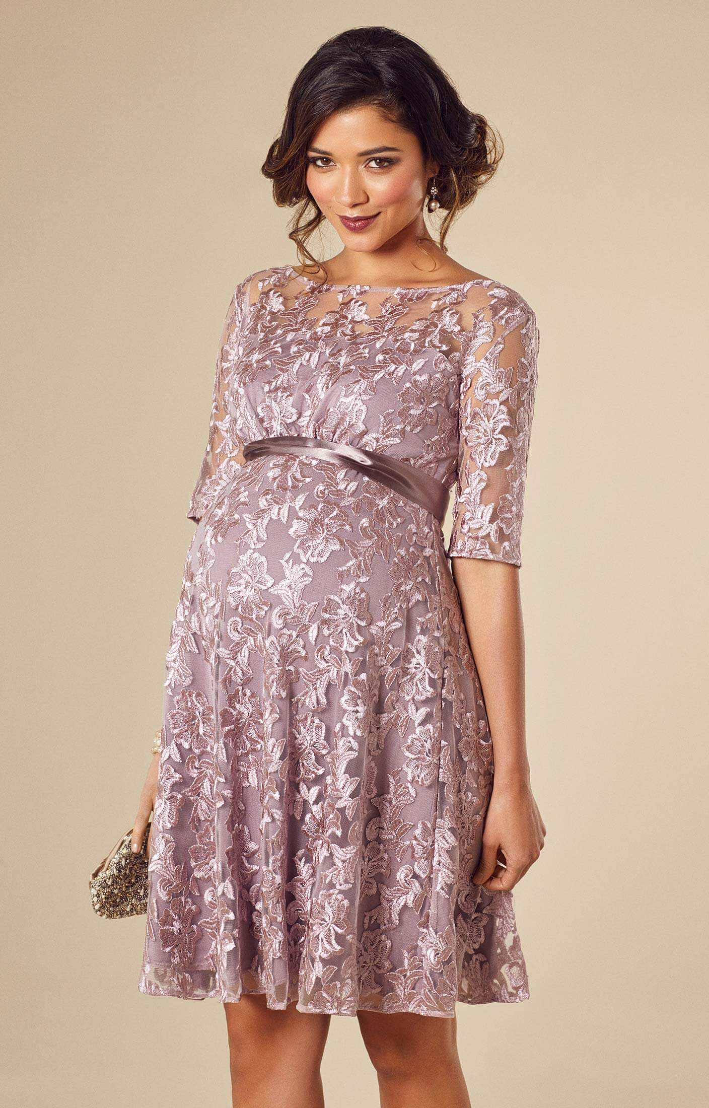 Asha maternity dress lilac maternity wedding dresses for Wedding guest pregnancy dresses